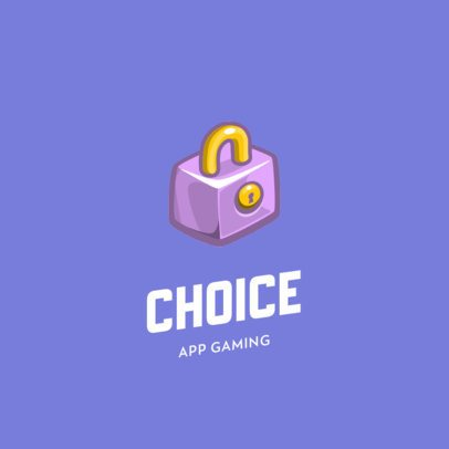 Logo Generator for a Mobile Gaming Company with a Lock Clipart 885c-el1