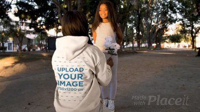 Mother's Day Themed Hoodie Video Featuring a Mom and Her Daughter 32347