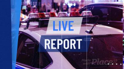 Slideshow Maker for a Breaking News Report 1231