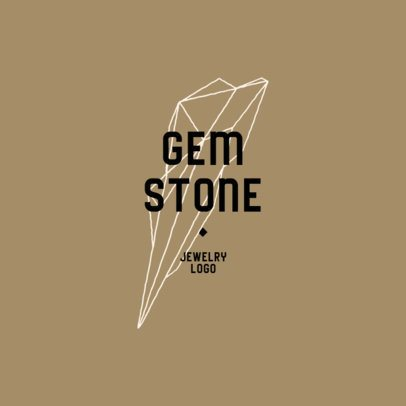 Jewelry Designer Logo Template Featuring an Abstract Gem Graphic 914b-el1
