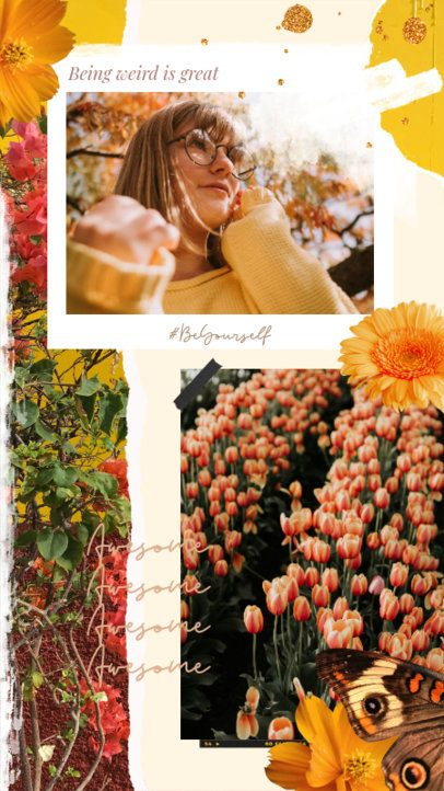 Spring Instagram Story Maker with Instant-Picture Frames 2308b