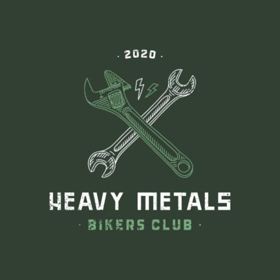 Bikers Club Logo Maker with a Wrench Icon 924c-el1