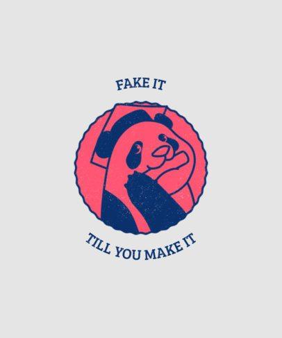 T-Shirt Design Maker Featuring a Graduated Panda Graphic 3204a