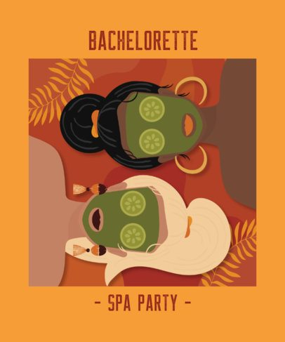 T-Shirt Design Template for a Bachelorette Spa-Party 2318