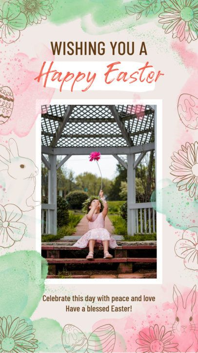 Instagram Story Template Featuring Easter Graphics 2322
