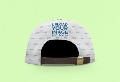 Back-View Mockup of a Sublimated Snapback Hat with Customizable Background 3040-el1