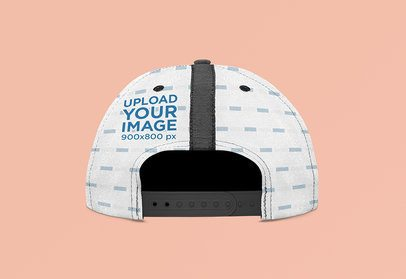 Back-View Mockup of a Sublimated Snapback Hat 3044-el1