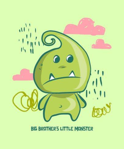 T-Shirt Design Generator Featuring an Adorable Monster Doodle 427c-el1