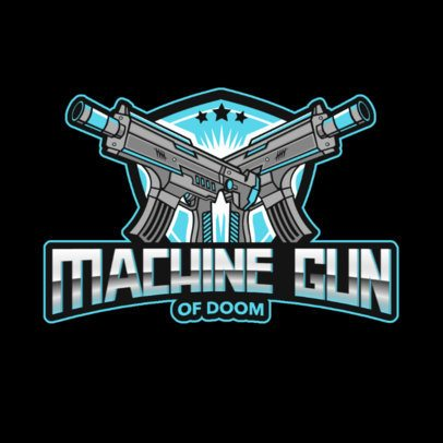 Gaming Logo Maker Featuring Assault Rifle Illustrations 3019a