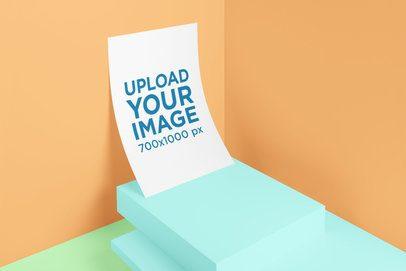 A4 Poster Mockup Featuring a Minimalistic Setting 3178-el1