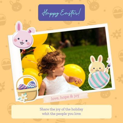 Adorable Instagram Post Maker with an Easter Theme 2323f