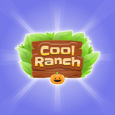 Farming Game Logo Creator Featuring a Pumpkin Icon 3007f