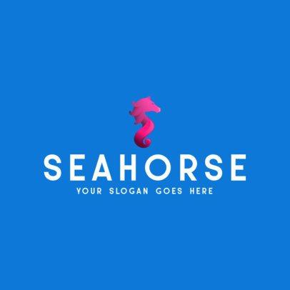 Simple Logo Maker with a Seahorse Graphic 356b-el1