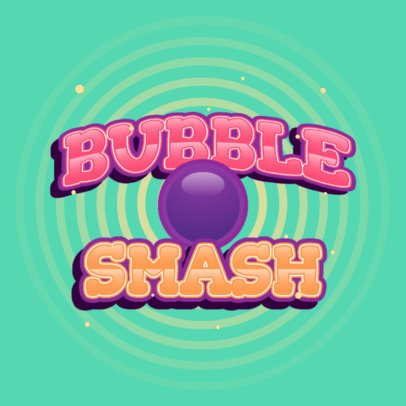 Logo Template for a Mobile App with a Bubble Graphic 3006e