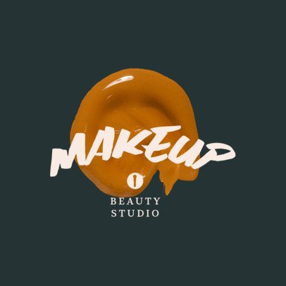 Beauty Studio Logo Maker with a Makeup Texture Graphic 3009c