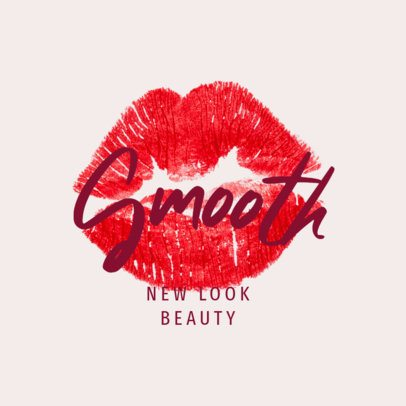 Beauty Logo Maker Featuring a Lipstick Kiss 3009e