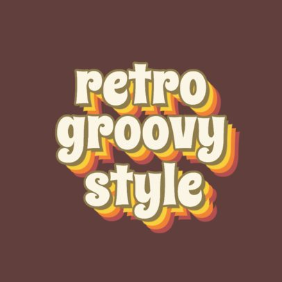 Retro Logo Template with Groovy Typography 3030