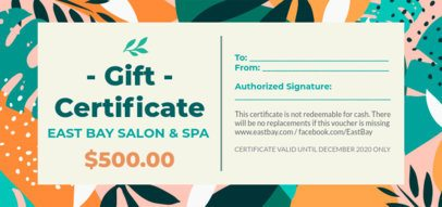 Gift Certificate Design Maker Featuring Colorful Patterned Backgrounds 2342