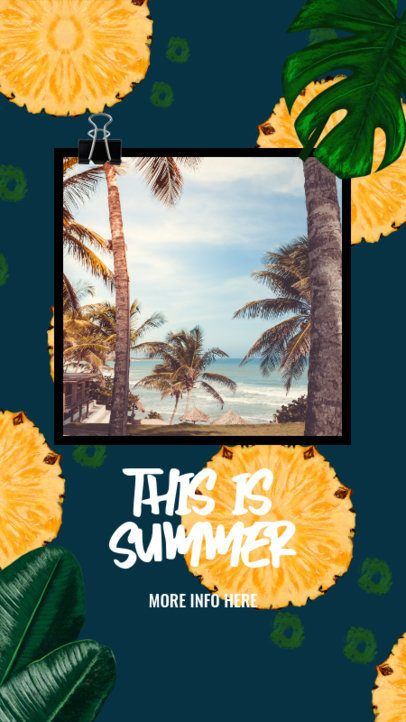 Instagram Story Generator for Summer Travelers with Pineapple Graphics 2320b