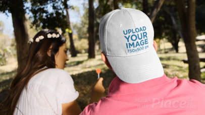 Dad Hat Video of a Man Talking with a Woman at a Park 32730