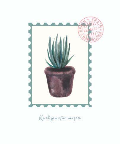 T-Shirt Design Maker Featuring Watercolor Plant Illustrations 526-el1