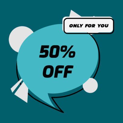 Sticker Design Creator for a Discount Offer 2337i