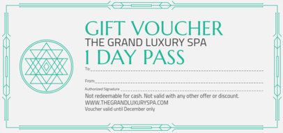 Elegant Gift Certificate for a Spa Day 2340a