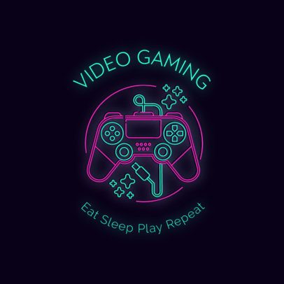 Retro Gaming Logo Maker with a Controller Graphic 2982c