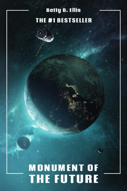 Book Cover Design Maker with a Space Background 512a-el1