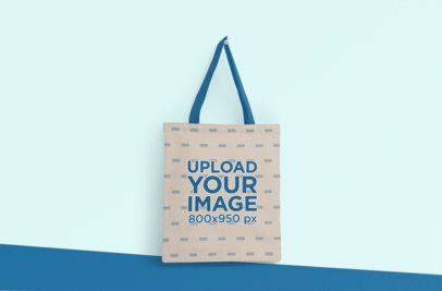 Mockup of a Hanging Tote Bag with Customizable Strap 3123-el1