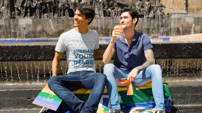 T-Shirt Video of a Couple Celebrating LGBT Pride 33347