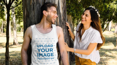 Tank Top Video Featuring a Woman Scaring Her Boyfriend 32742