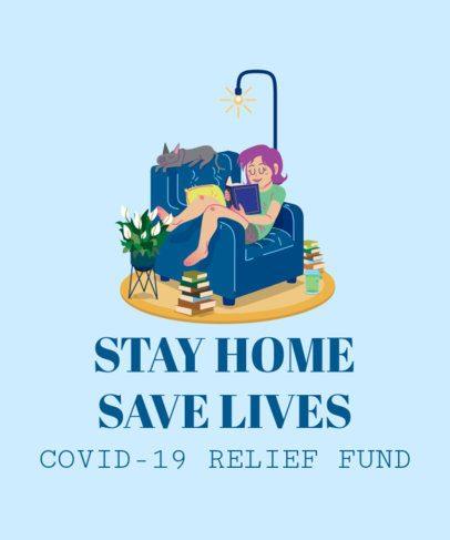COVID-19 Awareness T-Shirt Design Creator 2302g-2393