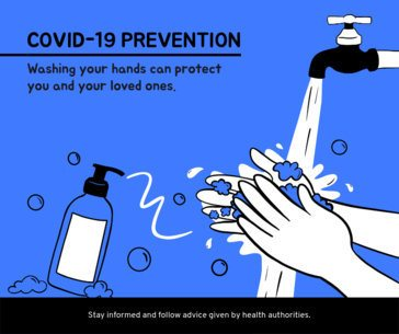 Illustrated Facebook Post Design Template for a COVID-19 Awareness Campaign 653g-2392