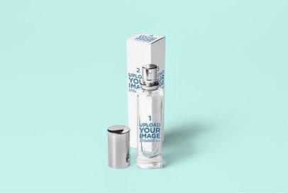 Mockup of a Slim Perfume Bottle and Its Packaging 3303-el1