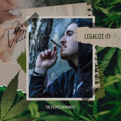 Instagram Post Generator Featuring Marijuana Leaves 2374c