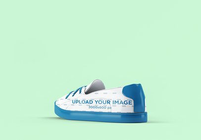 Sneaker Mockup Featuring a Customizable Background 3278-el1