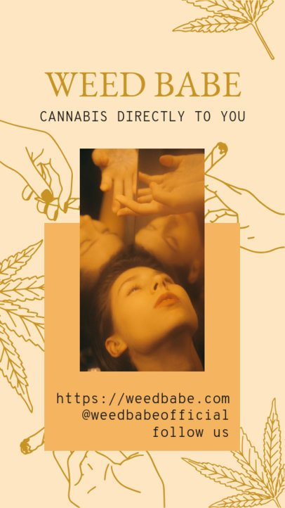 Instagram Story Template with Marijuana Graphics 2373a
