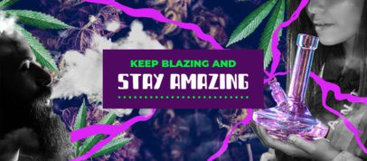Facebook Cover Design Template for Weed Smokers 2376d