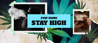 Facebook Cover Maker Featuring Marijuana Leaves 2376b