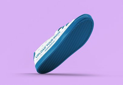 Shoe Mockup Featuring a Colored Backdrop 3279-el1