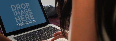 Girl MacBook Pro 13 Inch Notebook Bed Wide