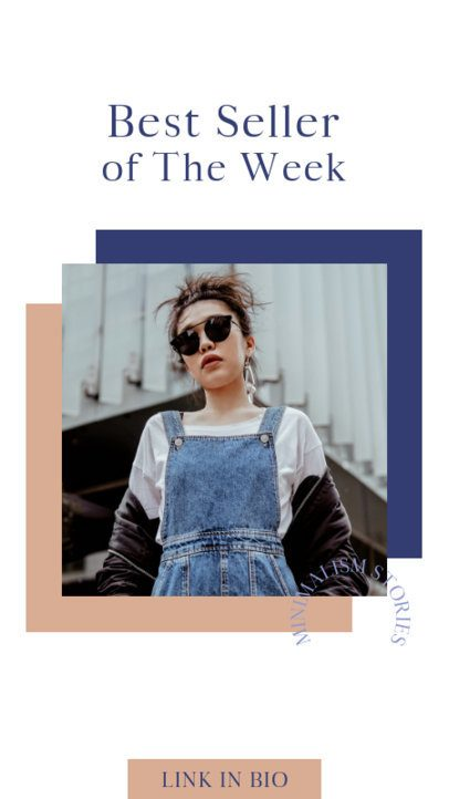 Minimalist Instagram Story Design Template for a Fashion Brand 690-el1