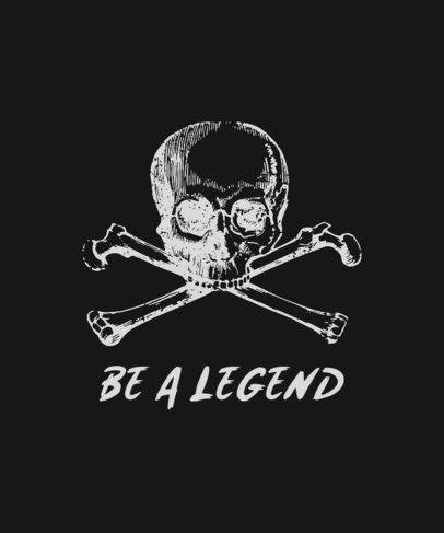 Trendy T-Shirt Design Template with a Skull Graphic 723a-el1