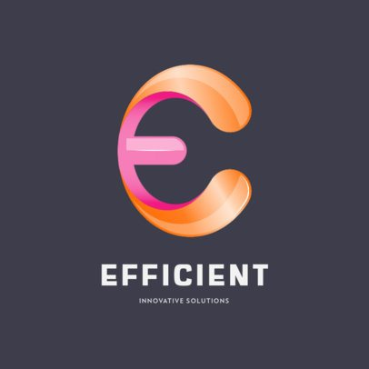 Logo Generator Featuring an Extruded E Letter Graphic 649b-el1