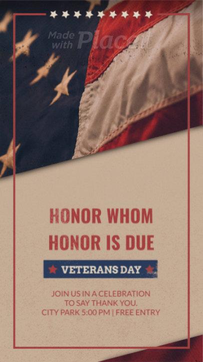 Instagram Story Video Generator for a Veterans Day Celebration 1361