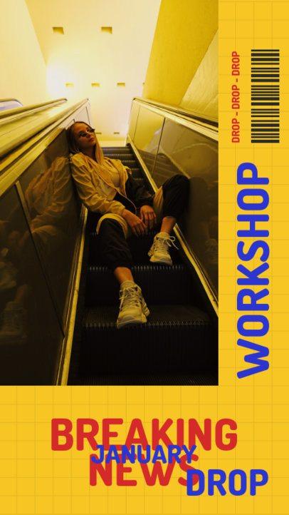 Bold Instagram Story Design Maker for a Cool Workshop 705c-el1