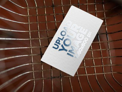 Mockup of a Business Card with a Varnished Effect 33799