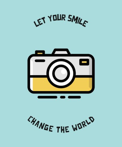 Travel-Themed T-Shirt Design Creator with a Camera Icon 726a-el1