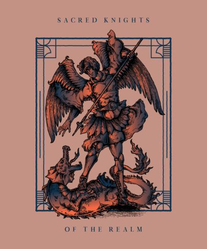 T-Shirt Design Creator Featuring an Archangel Illustration 676b-el1